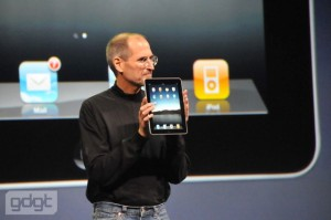 iPad pic with steve jobs